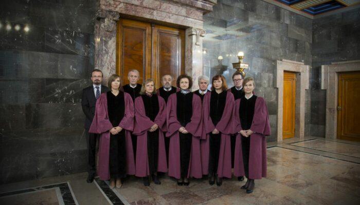Sestava ustavnih sodnikov leta 2016